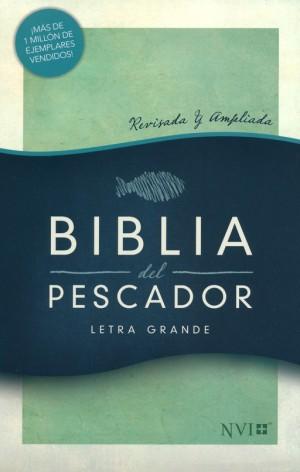 Biblia del pescador. Letra grande. Imitación piel. Verde - NVI