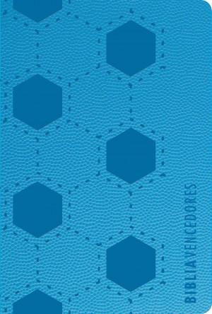 Biblia vencedores. Compacta. Letra grande. 2 tonos. Azul - RVR60