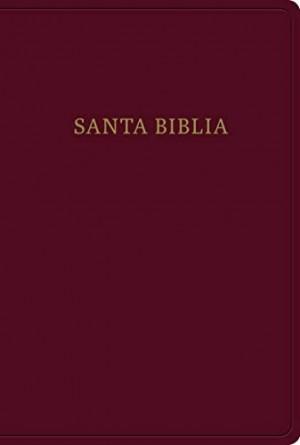 Biblia grande. Letra gigante. Imitación piel. Rojizo. Índice - RVR60