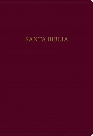 Biblia súper grande. Letra súper gigante. Imitación piel. Rojizo - RVR60