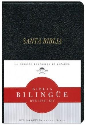Biblia bilingüe. Imitación piel. Negro - RVR60/KJV