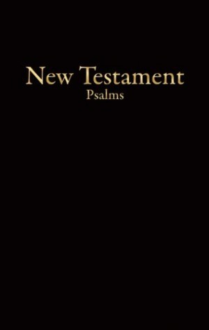 Nuevo Testamento económico con Salmos. Imitación piel. Negro - KJV (inglés)