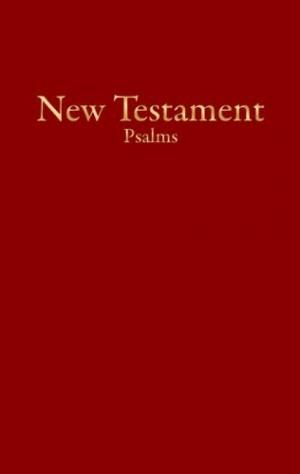 Nuevo Testamento económico con Salmos. Imitación piel. Rojo - KJV (inglés)