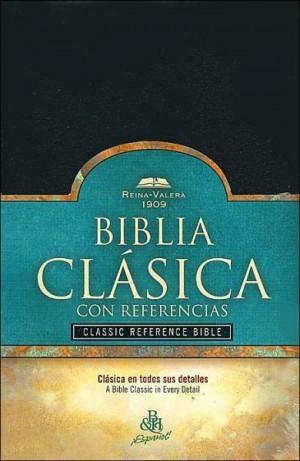 RV 1909 Biblia Clásica con Referencia, negro imitación piel