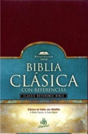 Biblia clásica con referencias. Imitación piel. Rojizo - RVR09