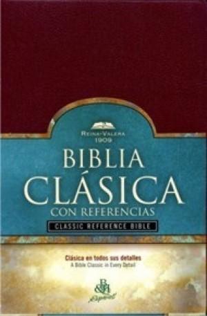 Biblia clásica con referencias. Imitación piel. Rojizo. Índice - RVR09