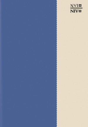 Biblia bilingüe. 2 tonos. Azul/beige - NVI/NIV