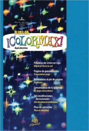 Biblia colormax. Imitación piel. Azul eléctrico - RVR60