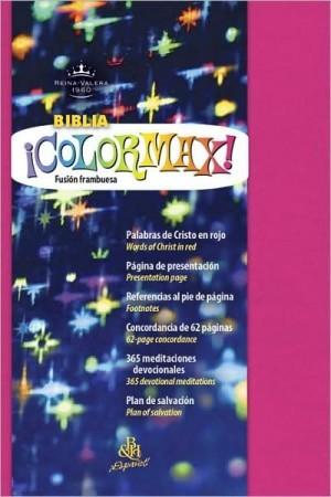 Biblia colormax. Imitación piel. Fusión frambuesa - RVR60