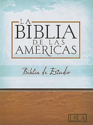 LBLA Biblia de Estudio, borgoña piel fabricada con índice