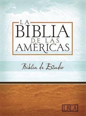 LBLA Biblia de Estudio, negro piel fabricada con índice