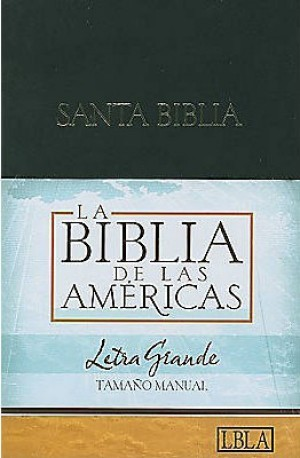LBLA Biblia Letra Grande Tamaño Manual, tapa dura