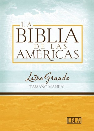 LBLA Biblia Letra Grande Tamaño Manual, negro símil piel con índice