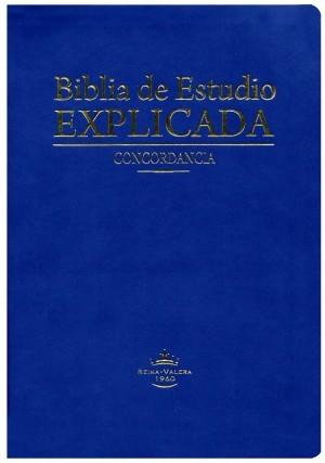 Biblia de estudio explicada. Piel especial. Azul. Índice - RVR60