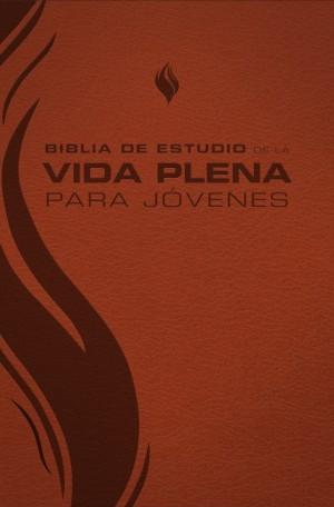 Biblia de estudio vida plena para jóvenes. 2 tonos. Marrón - RVR60