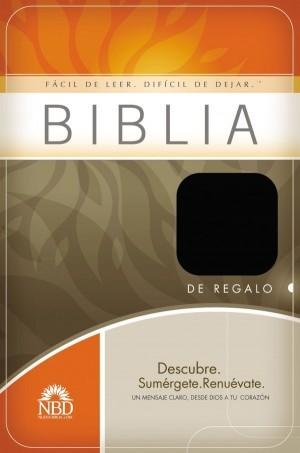 Biblia de regalo. Imitación piel. Negro - NBD