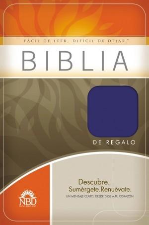 Biblia de regalo. Imitación piel. Azul - NBD