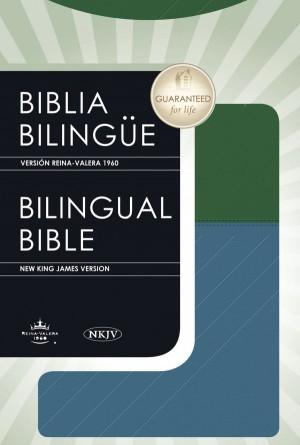 Biblia bilingüe. 2 tonos. Azul/verde - RVR60/NKJV