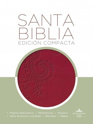 Biblia compacta. 2 tonos. Rojo - RVR60
