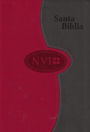 Biblia letra grande. 2 tonos. Gris/rojo - NVI