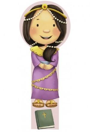 Marcador en 3D para niños Ester (bilingüe)