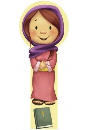 Marcador en 3D para niños María (bilingüe)