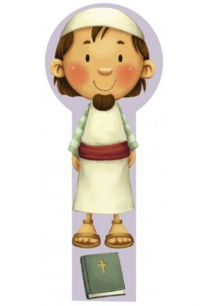 Marcador en 3D para niños Noé (bilingüe)