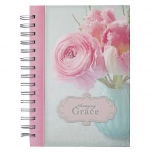 Diario Amazing Grace. Tapa dura. Flores. Espiral