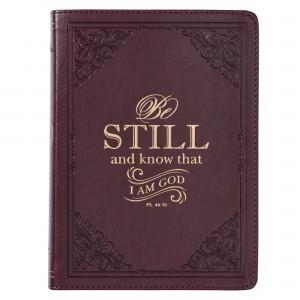 Diario Salmo 46:10. 2 tonos. Marrón (inglés)