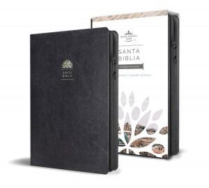 Biblia manual. Letra grande. Imitación piel. Negro. Cremallera - RVR60