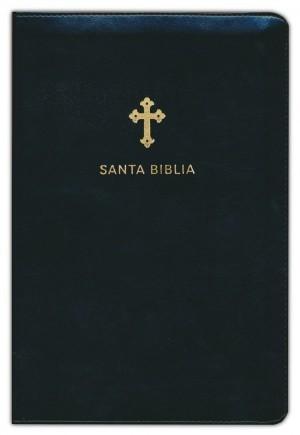 Biblia grande. Letra grande. Imitación piel. Negro. Cremallera - RVR60