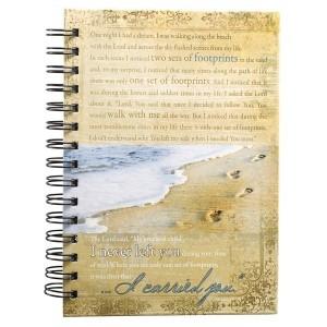Diario Footprints. Tapa dura. Playa. Anillado