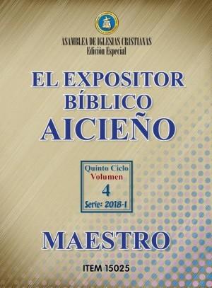 Expositor bíblico. Maestro. Aicieño
