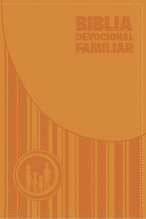 Biblia devocional familiar. 2 tonos. Naranja - NBV