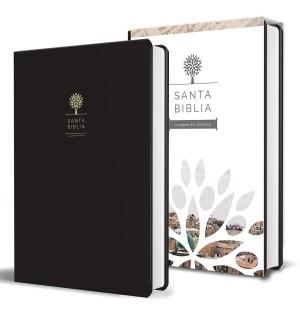 Biblia con imágenes de Tierra Santa. Letra grande. Imitación piel. Negro - RVR60