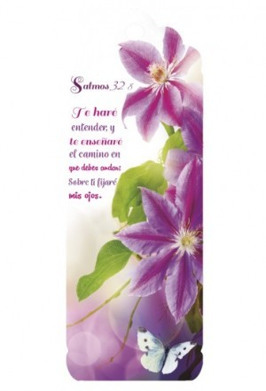 Marcador en 3D para mujer Salmo 32:8 (bilingüe)