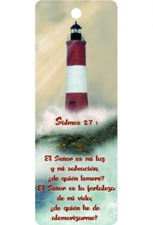 Marcador en 3D unisex Salmo 27:1 (bilingüe)