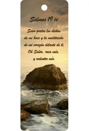 Marcador en 3D unisex Salmo 19:14 (bilingüe)