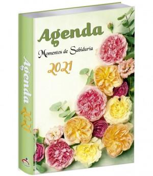 Agenda 2021. Vinilo. Claveles