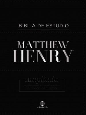 Biblia de estudio Matthew Henry. Piel especial. Negro - RVR77