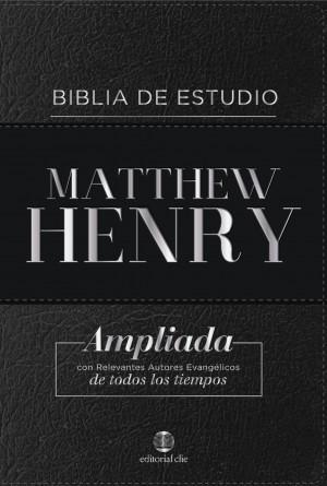 Biblia de estudio Matthew Henry. Piel especial. Negro. Índice - RVR77