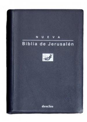 Biblia de Jerusalén. Bolsillo. Plástico Azul con funda