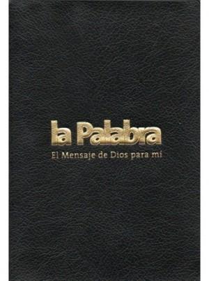 Biblia BLP042sfLG. Bolsillo. Letra grande. Plástico. Negro - LP