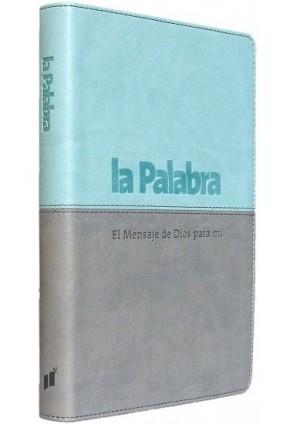 Biblia BLP067. 2 tonos. Azul/gris - LP