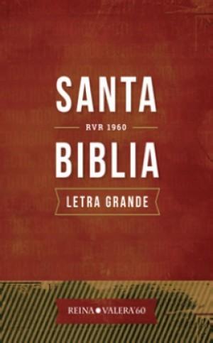 Biblia RVR082CLG. Letra gigante. Plástico impreso. Rojo - RVR60