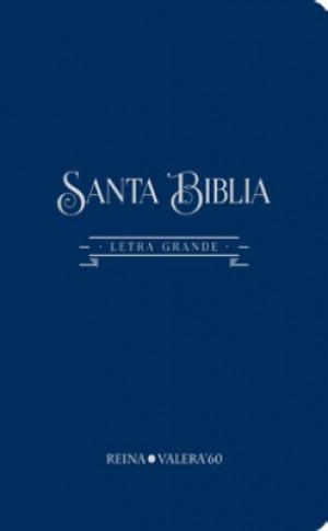 Biblia RVR084CLG. Letra gigante. Algodón texturado. Gris - RVR60
