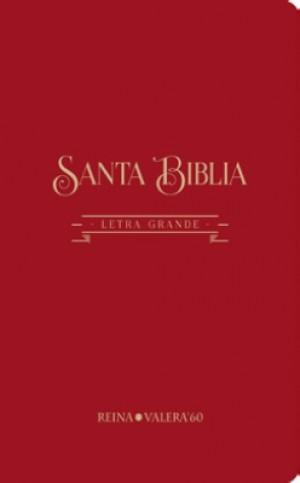 Biblia RVR084CLG. Letra gigante. Algodón texturado. Rojo - RVR60