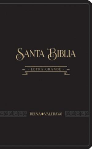Biblia RVR085CLG. Letra gigante. 2 tonos. Negro - RVR60