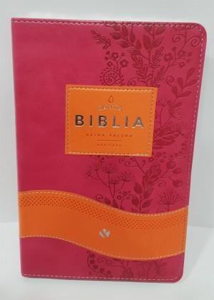 Biblia RVR065c. 2 tonos. Naranja/fucsia - RVR60