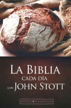 Biblia RVR063. Cada día con John Stott. Plástico impreso - RVR60